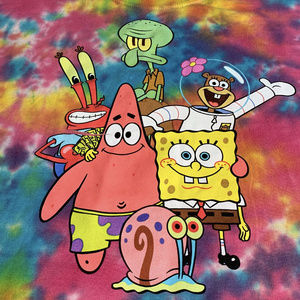 Nickelodeon Sponge Bob Tie dye Tee Lrg